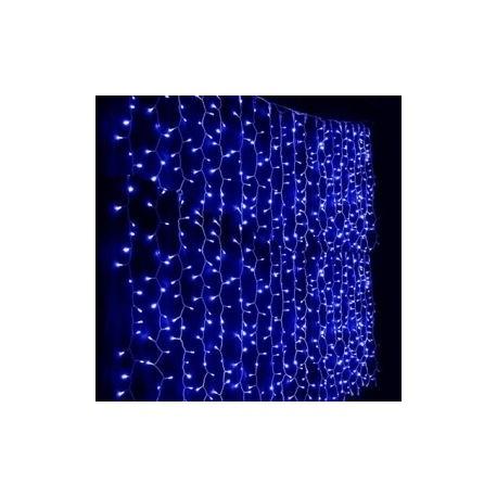 Svetelná záclona - modrá
