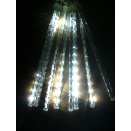 Dekoračné led osvetlenie cencúle padajúci sneh- biele 30cm