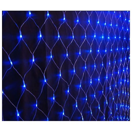 Modrý LED záves