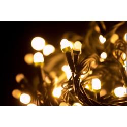 Vianočné led osvetlenie - veľké diódy teplá biela 240led diód