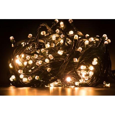 Vianočné led osvetlenie - diamantové diódy teplá biela 240led diód