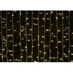 Svetelná záclona - teplá biela 3mx3m