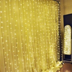 Svetelná záclona mikroled kvapky - teplá biela 2mx2m