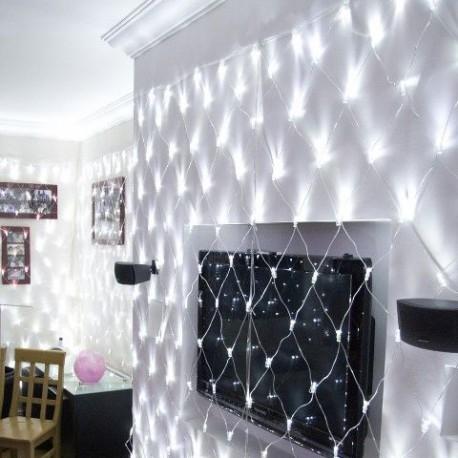 Biely LED záves