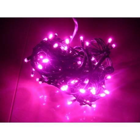 Osvetlenie stromčeka - ružové